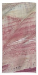 Painted Hills Textures 1 Hand Towel by Leland D Howard