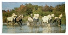 Painted Horses Bath Towel