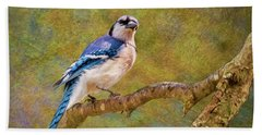 Painted Jay Hand Towel