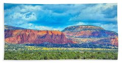 Bath Towel featuring the photograph Painted New Mexico by AJ Schibig