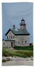 Painted Northwest Block Island Lighthouse Bath Towel