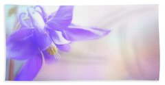 Painted Purple Columbine Bath Towel