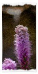 Painted Purple Flower Bath Towel