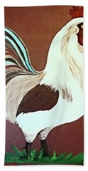 Painted Rooster Hand Towel