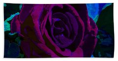 Painted Rose Hand Towel