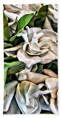 Painted Roses Bath Towel