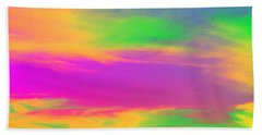 Painted Sky Bath Towel by Linda Hollis