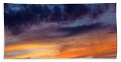 Painted Sunset Bath Towel