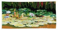 Painted Sunspots Bath Towel