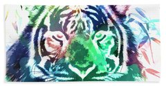 Painted Tiger Hand Towel by Steve McKinzie