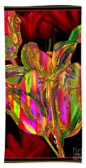 Painted Tulips Hand Towel by Irma BACKELANT GALLERIES