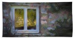 Painted Window Hand Towel