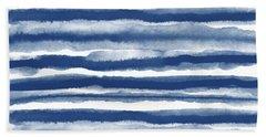 Painterly Beach Stripe 3- Art By Linda Woods Bath Towel