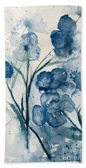 Painterly  Blues Hand Towel