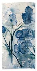 Painterly  Blues Bath Towel