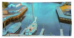 Painterly Tuckerton Seaport Bath Towel