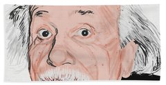 Painting Of Albert Einstein Bath Towel