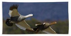 Pair Of Upland Geese Bath Towel