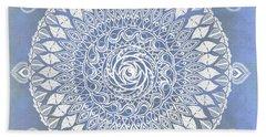 Paisley Moon Henna Mandala Bath Towel
