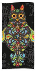 Paisley Owl Bath Towel