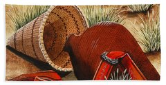 Bath Towel featuring the painting Paiute Baskets by Jennifer Lake