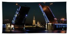 Palace Bridge At Night Hand Towel