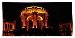 Palace Of Fine Arts - Night Profile Bath Towel