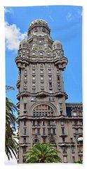 Palacio Salvo, Montevideo, Uruguay No. 35-1 Hand Towel by Sandy Taylor