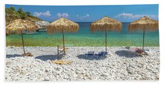 Palapa Umbrellas Bath Towel