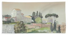 Palatine Hill From The Colosseum Bath Towel