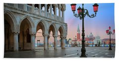 Palazzo Ducale Hand Towel by Inge Johnsson