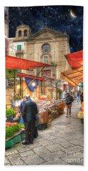 Palermo Market Place Bath Towel by Juli Scalzi