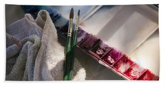 Hand Towel featuring the photograph Palette by Donna Walsh