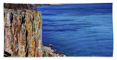 Palisade Head Tettegouche State Park North Shore Lake Superior Mn Bath Towel