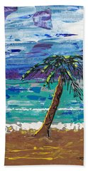 Hand Towel featuring the painting Palm Beach by J R Seymour