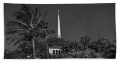 Palm Church Steeple Delray Beach Florida Hand Towel