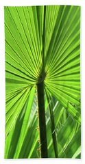 Palm Frond Hand Towel by Bonnie Muir