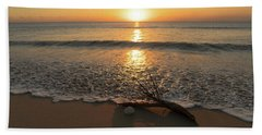 Palm Frond Coral Sunrise Delray Beach Florida Hand Towel