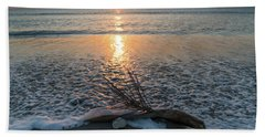 Palm Frond Coral Sunrise Wave Delray Beach Florida Bath Towel