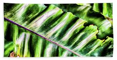 Palm Fronds Up Close Hand Towel