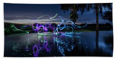Palm Lights Bath Towel