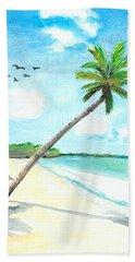 Palm Over Diani Beach Hand Towel
