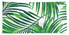 Palm Paradise Bath Towel by Uma Gokhale