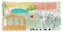 Palm Springs Cityscape- Art By Linda Woods Hand Towel
