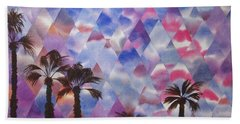 Palm Springs Sunset Bath Sheet by Jeni Bate