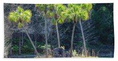 Palm Tree Island Hand Towel