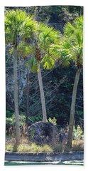 Palm Tree Island Bath Towel