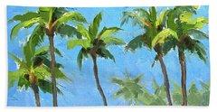 Palm Tree Plein Air Painting Hand Towel