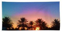 Palm Tree Sunset Hand Towel