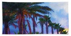 Palm Trees 3 Bath Towel by Glenn Gemmell